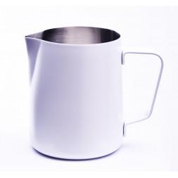 stalowy dzbanek na mleko firmy Concept Art 590 ml - biały