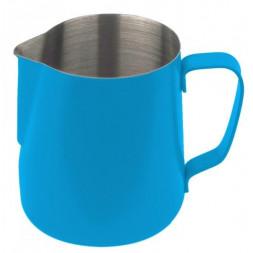 stalowy dzbanek na mleko firmy Concept Art 590 ml - błękitny